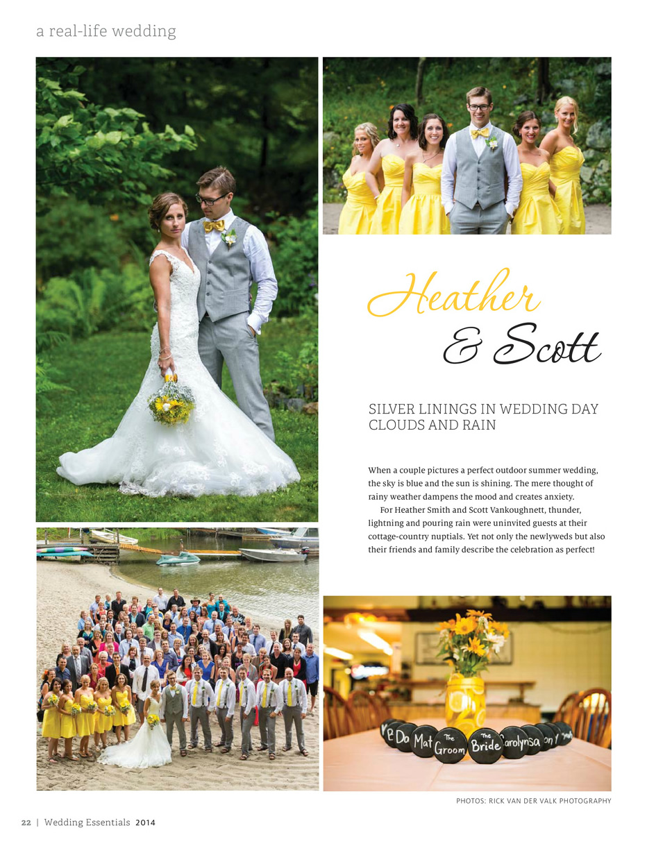 La mode salon featured in wedding essentials magazine for A la mode salon parry sound